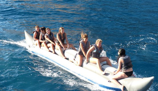 banana boat riding on the boat party